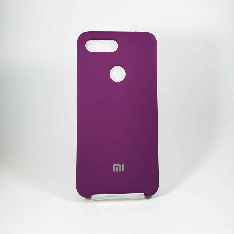 قاب سلیکونی بنفش Xiaomi Mi 8 Lite